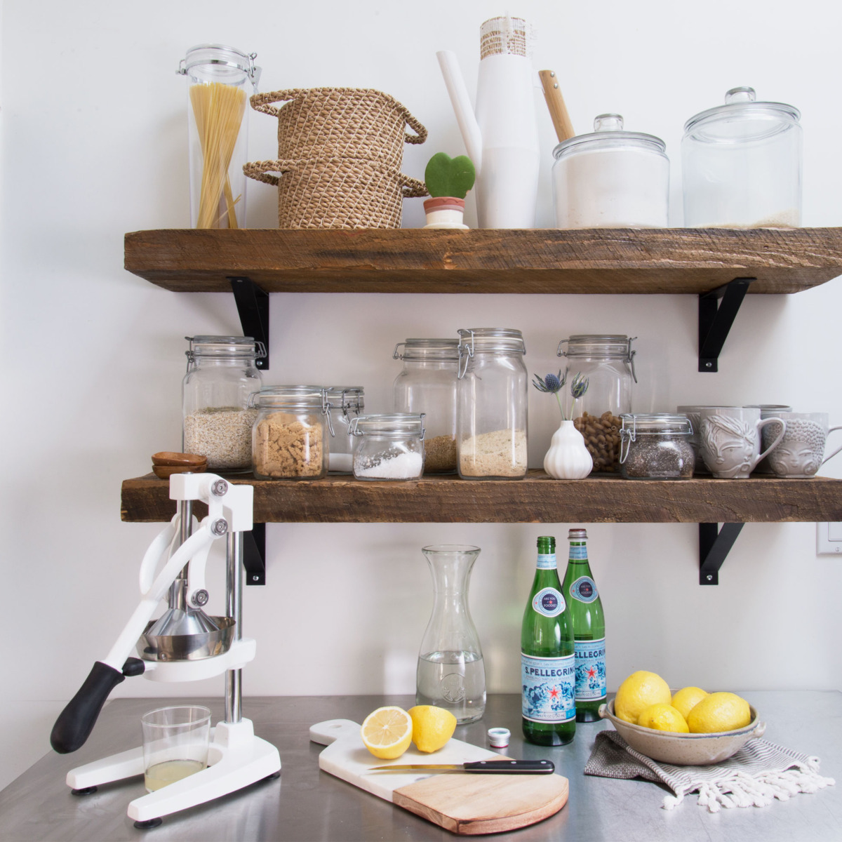 13 Easy Small-Kitchen Ideas Under $100 - 2018 | The ... Ideas For Small Kitchen Shelves on small color ideas, bar shelves ideas, small studio apartment kitchen idea, kitchen shelves decorating ideas, small corner shelves for kitchen, small kitchens with open shelves, bar kitchen interior design ideas, kitchen cabinets shelves ideas, open kitchen shelves ideas, sauna shelves ideas, small townhouse design ideas, corner kitchen shelves ideas, small pantry shelving ideas, storage shelves ideas, open kitchen cabinet ideas, open shelf kitchen design ideas, home shelves ideas, bedroom shelves ideas, diy kitchen storage ideas, country kitchen shelves ideas,