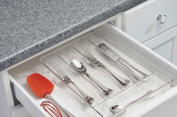 InterDesign Linus Acrylic Cutlery Tray