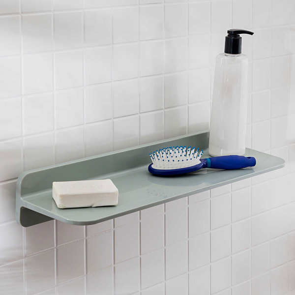 Sabi by Honey-Can-Do 17.72-Inch Floating Shelf in Grey