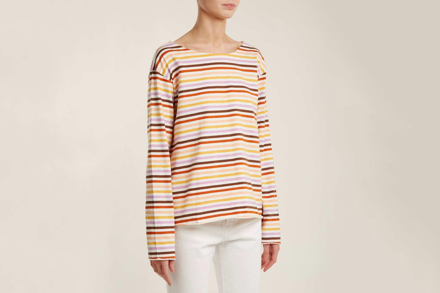 8359bdc811 M.I.H. Jeans Simple Striped Cotton-jersey Top
