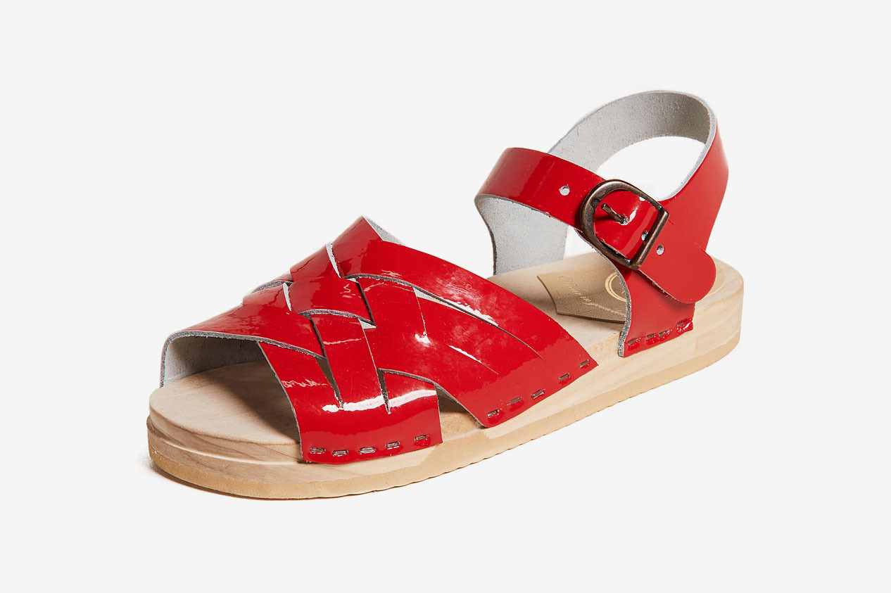 No.6 Flat Huarache Clogs