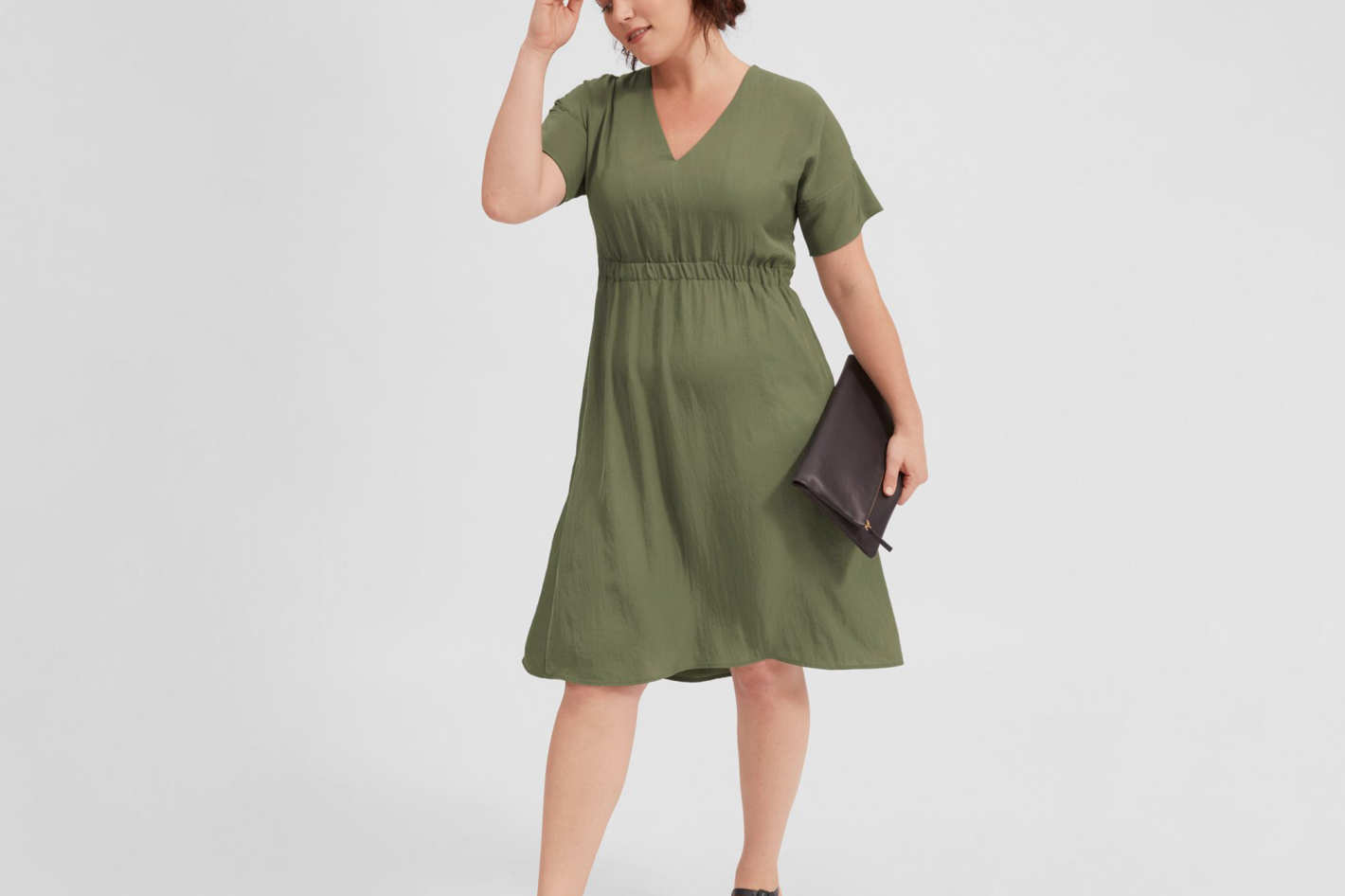 Japanese GoWeave Light V-Neck Dress