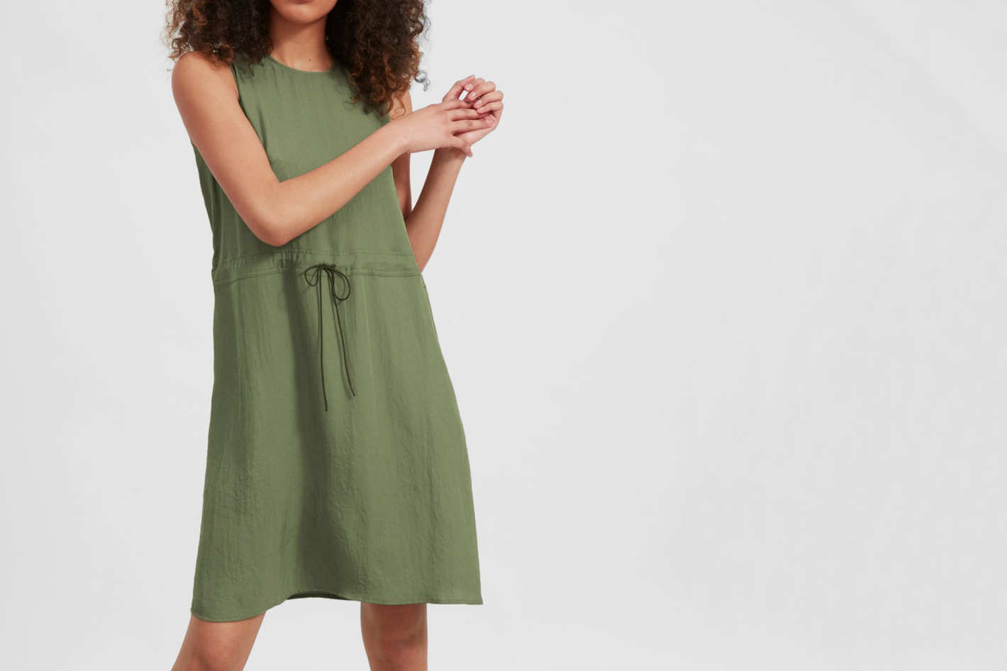 Everlane Japanese GoWeave Light Drawstring Dress
