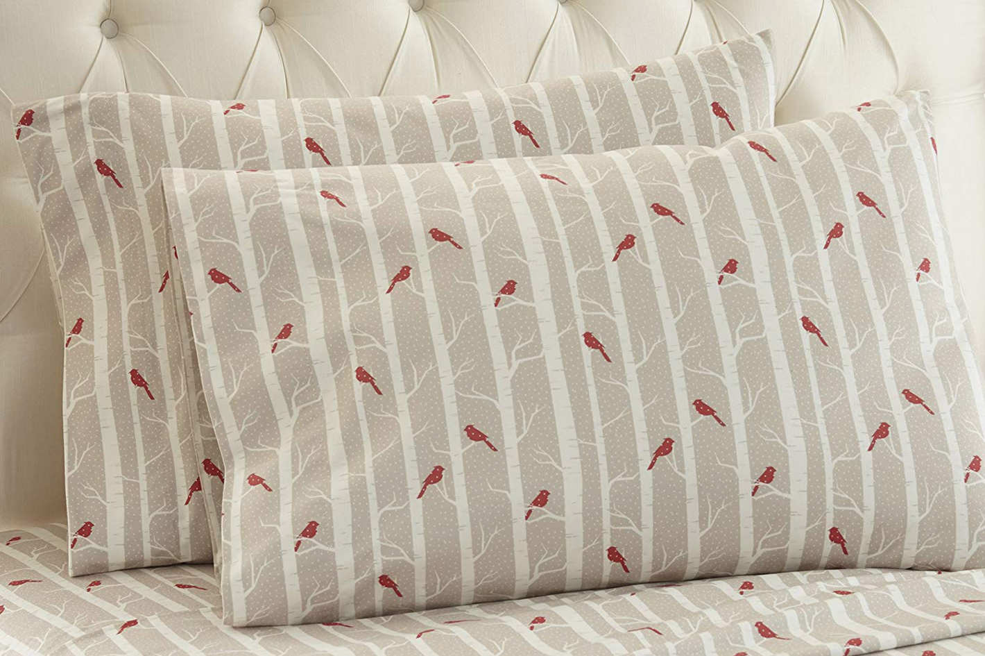Thermee Micro Flannel Shavel Home Products Birch Sheet Set (Queen)