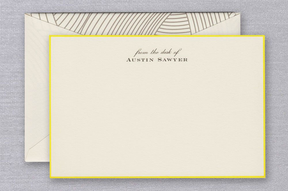 Crane & Co. Lido Ecru Bordered Correspondence Cards (Set of 25)