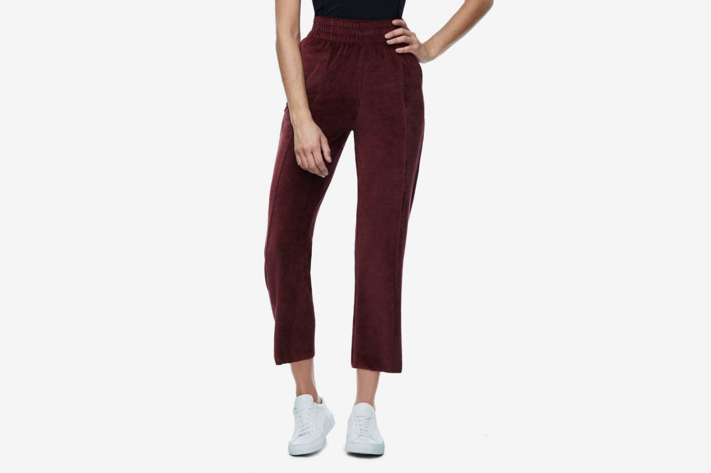 Good American High-Waisted Velour Pant