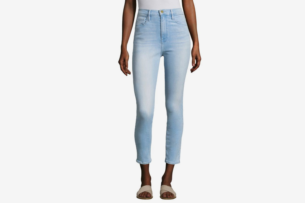 Frame Ali Light Wash High-Rise Skinny Jean