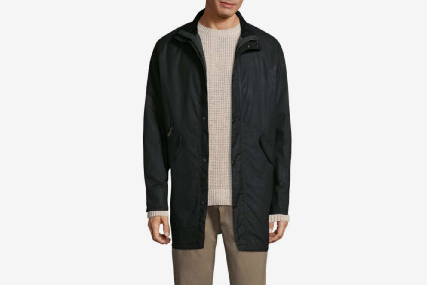 Barbour High-Neck Snap Cotton Jacket