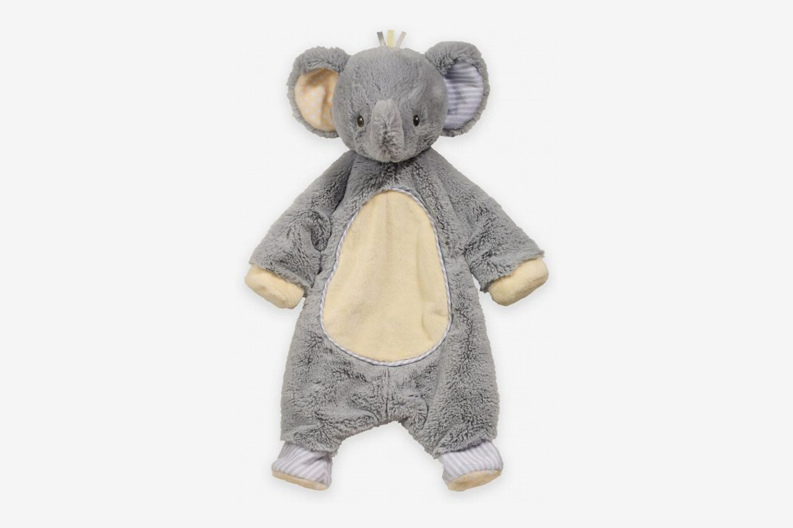 Elephant Sshlumpie Blanket Plush in Gray