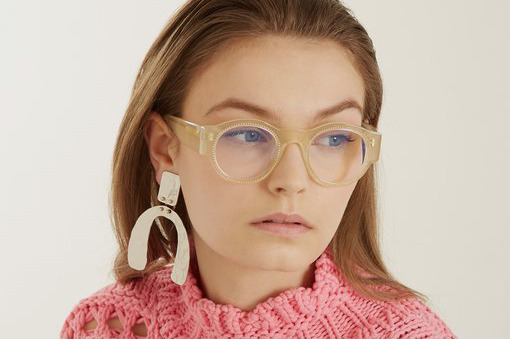 Marni Crystal-Embellished Round Glasses