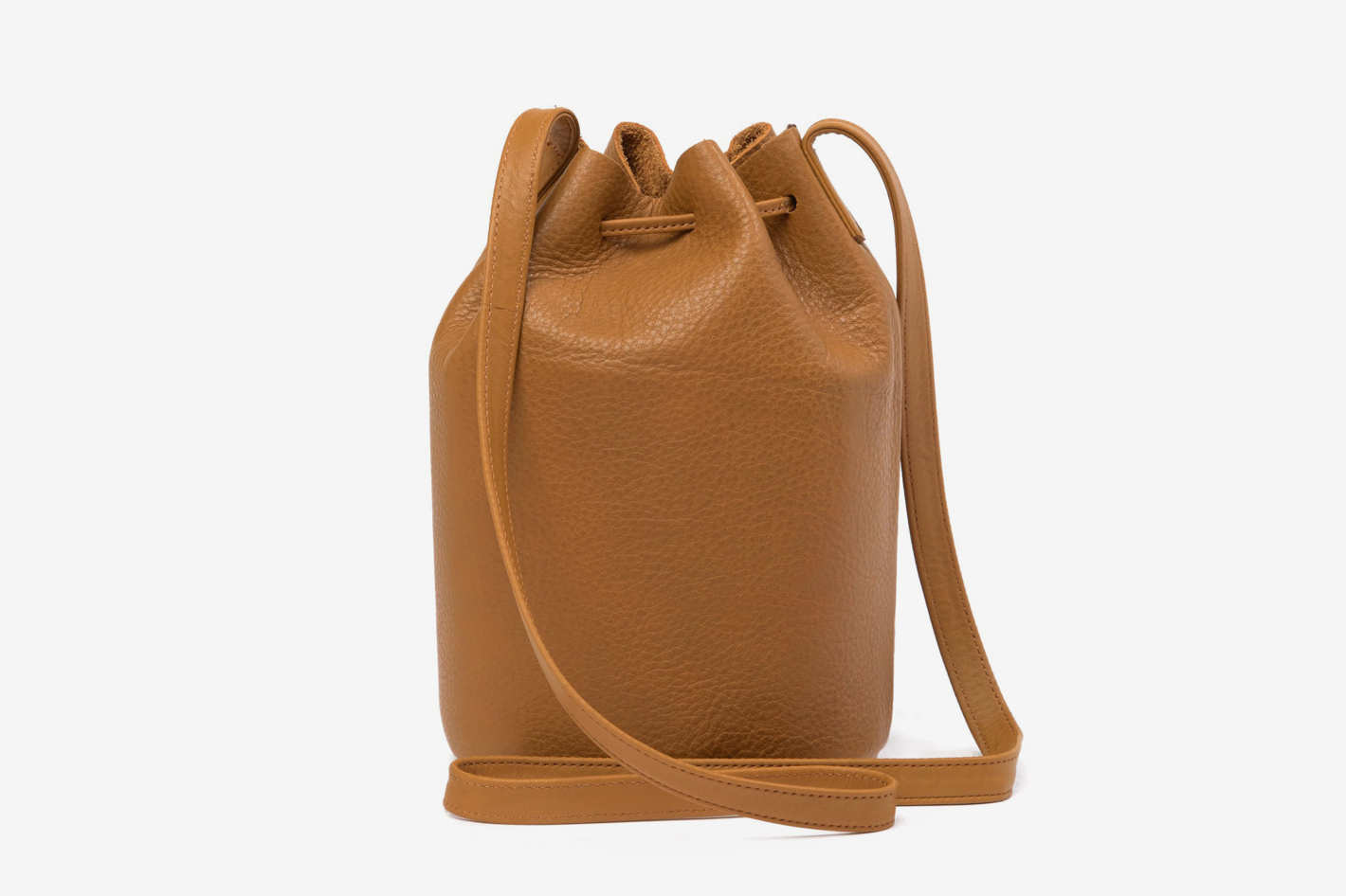 Baggu Leather Bucket Bag