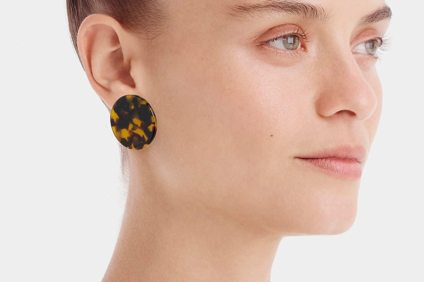 J.Crew Tortoise Disc Earrings