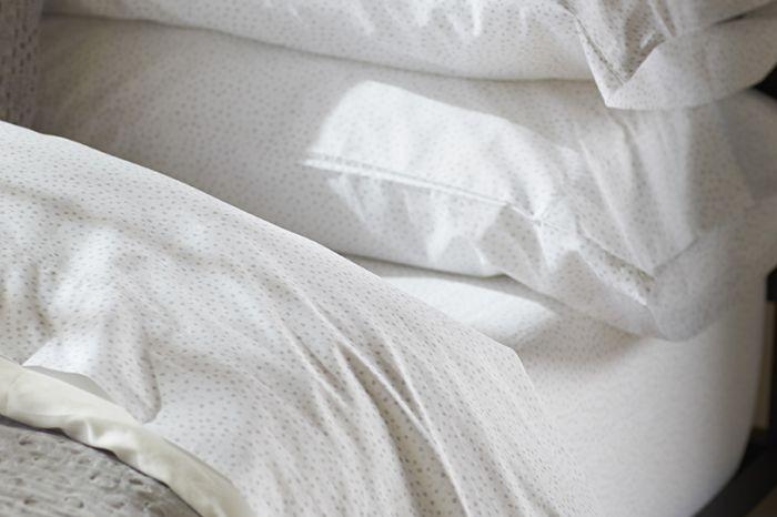 Watercolor Printed Dot Organic Sheets King Pillowcases