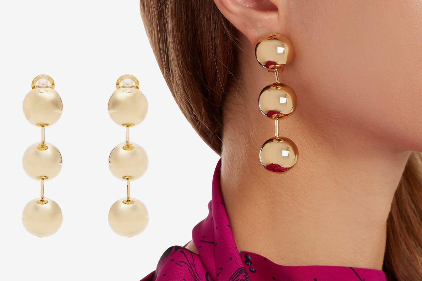 Balenciaga Bead Drop Earrings