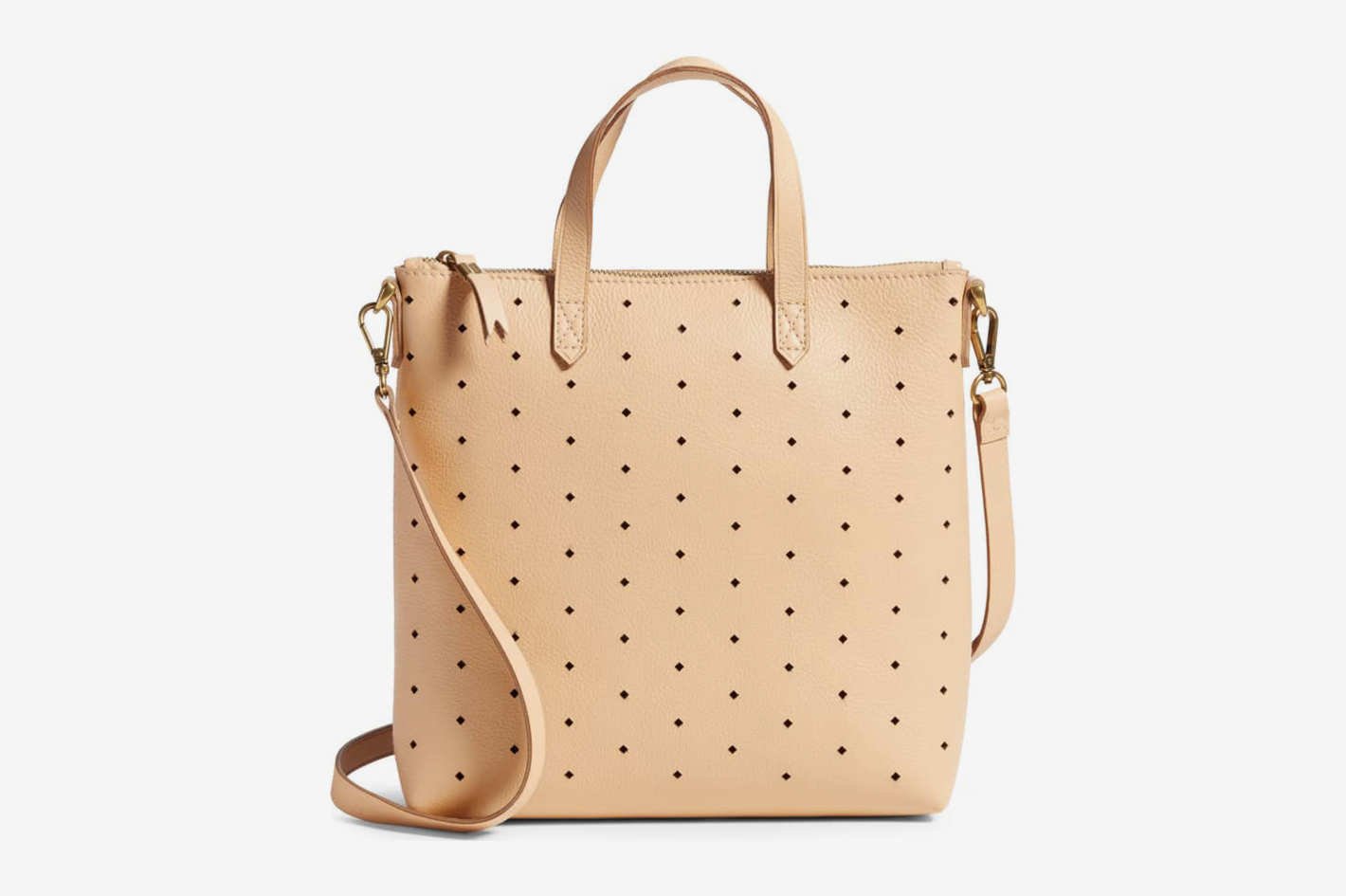 Madewell Mini Transport Perforated Leather Crossbody Bag