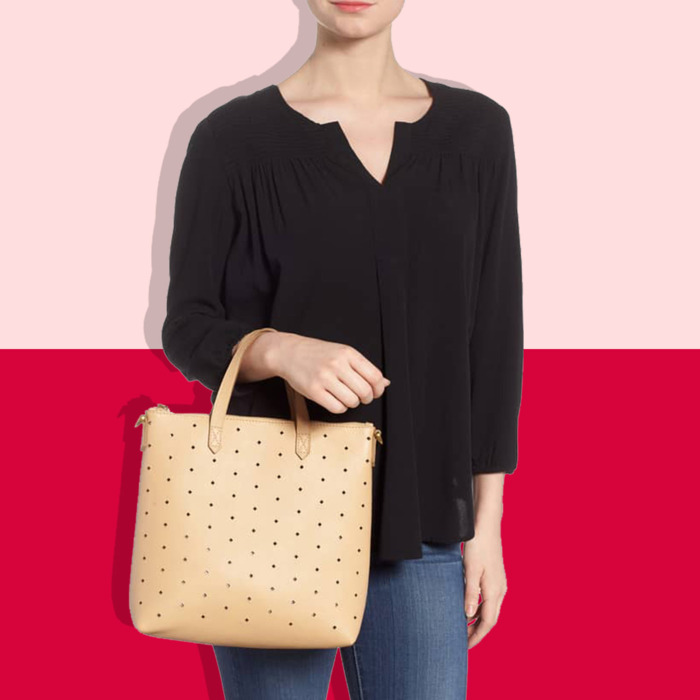 2a13a9587f28 Madewell Perforated Leather Transport Mini-Tote Sale 2018