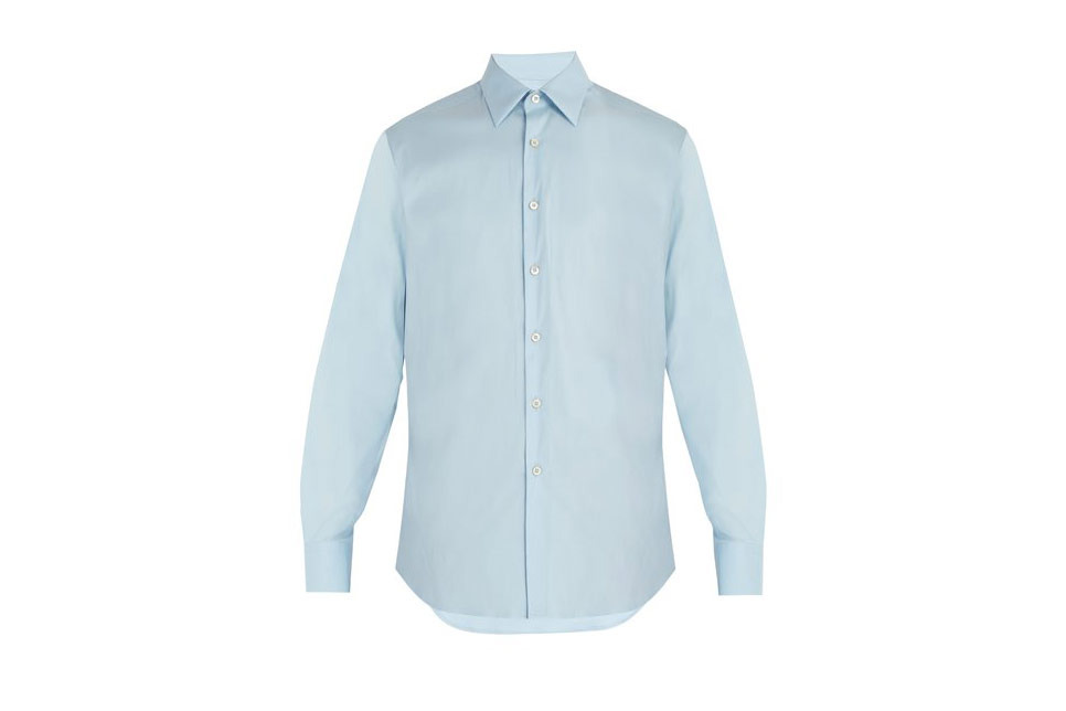 Prada Classic-Fit Stretch Poplin Shirt