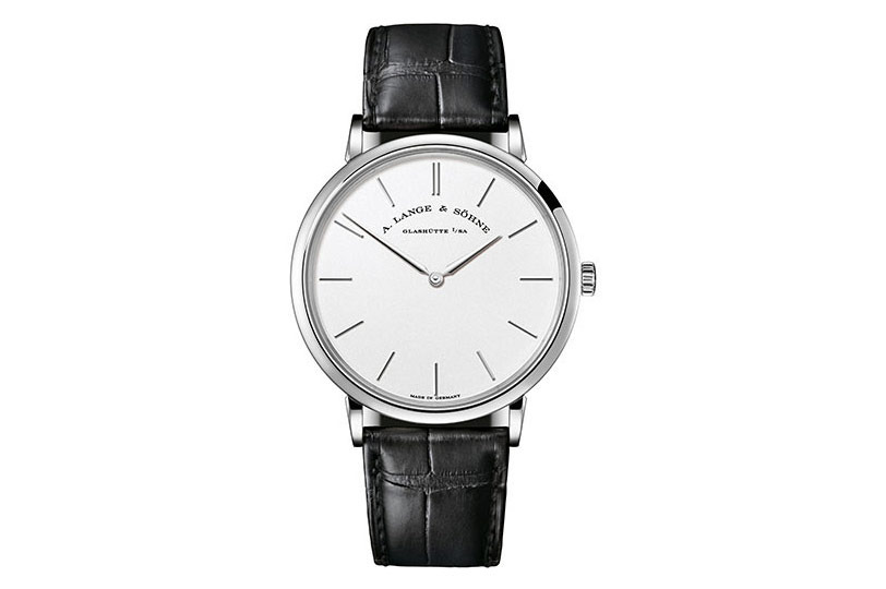 A Lange & Sohne Saxonia Thin Silver Dial 18K White Gold Men's Watch