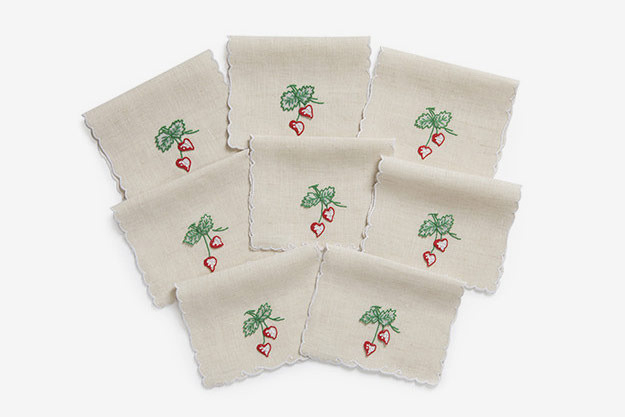 Julia B. Strawberries Cocktail Napkins