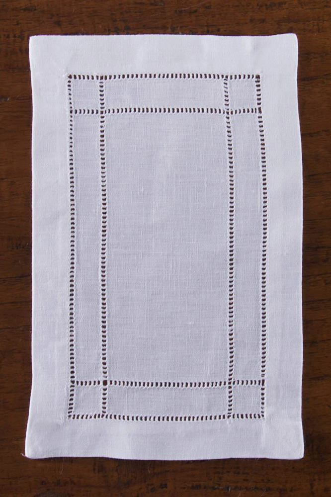 Henry Handwork Doppio Estate White Linen Cocktail Napkin