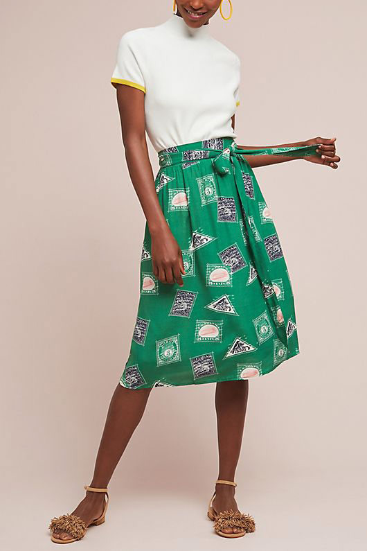 Porridge Getaway Printed Skirt