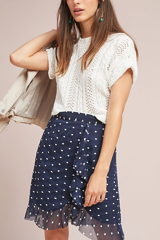 Hutch Ruffled Clip Dot Mini Skirt