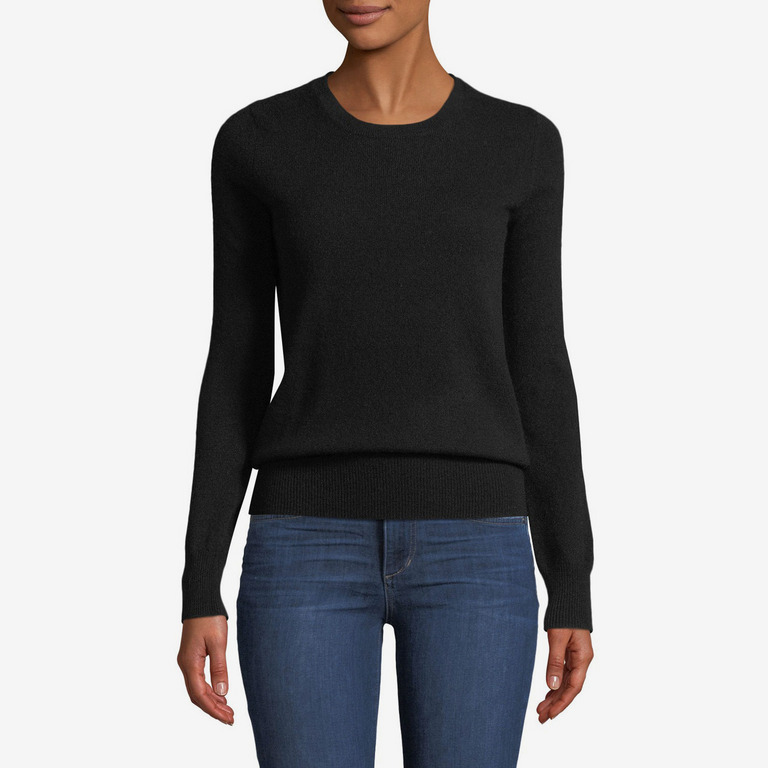 Neiman Marcus Cashmere Crewneck Sweater