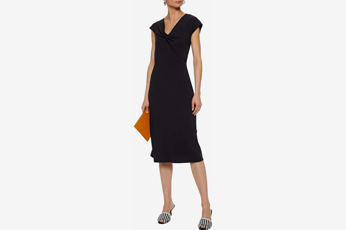 Diane von Furstenberg Gathered crepe dress