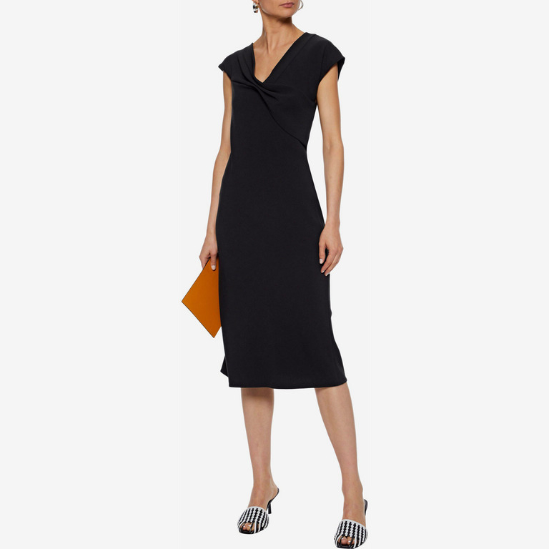 Diane von Furstenberg Gathered crepe dress