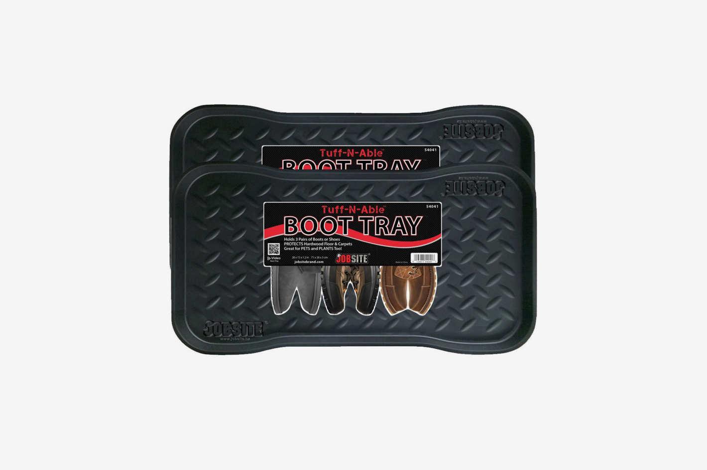 """Jobsite Heavy Duty Boot Tray  (28"""" x 15"""") — 2-Pack"""