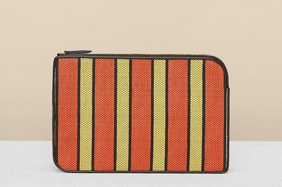 Diane von Furstenberg Raffia Continental Wallet
