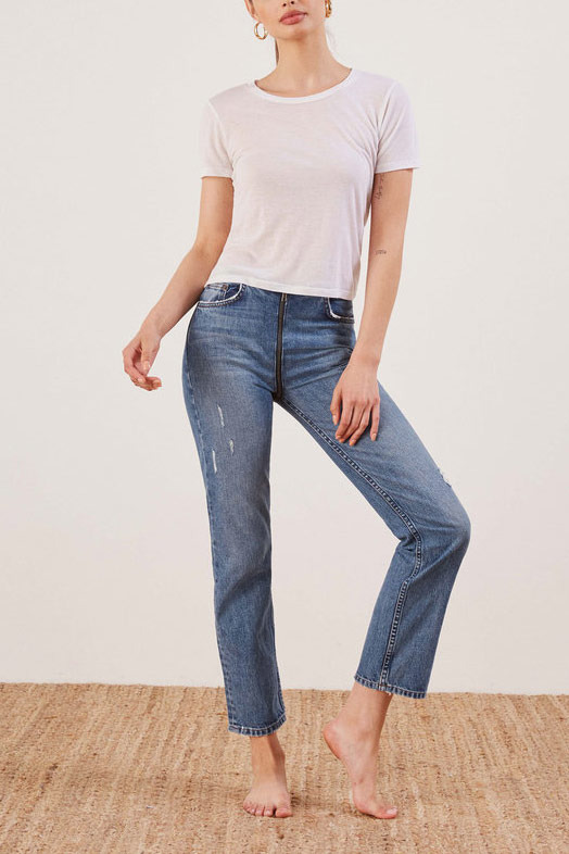 The Reformation Zipper Jean