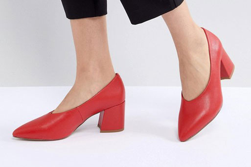 Matt & Nat Sibyl V Cut Block Heeled Point Shoe