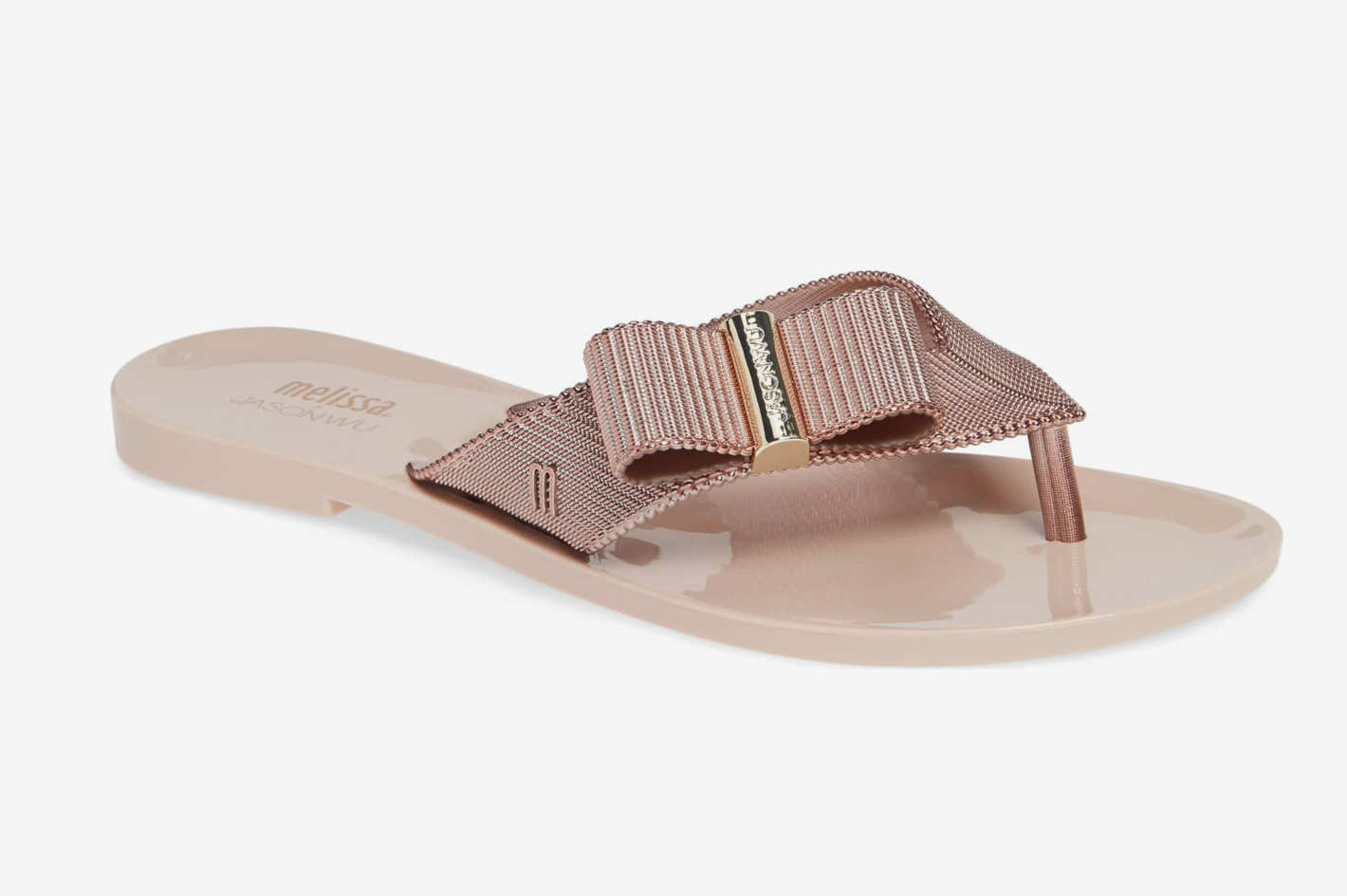 Melissa + Jason Wu Chrome Flip Flop