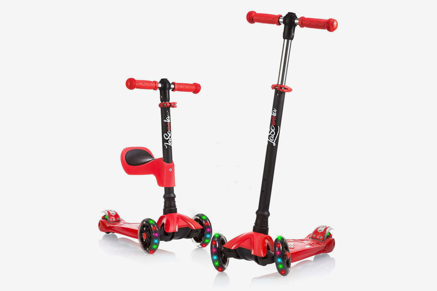 LaScoota 2 In 1 Kick Scooter With Removable Seat