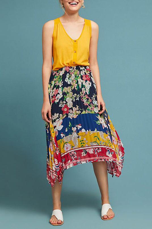 Leora Floral Skirt