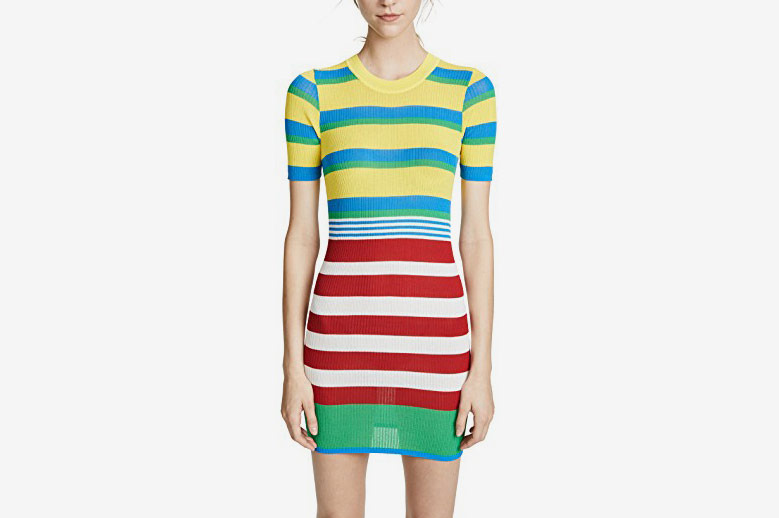 Diane von Furstenberg Elbow Sleeve Knit Dress