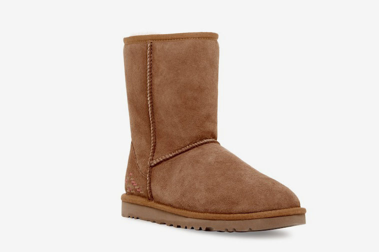 UGG Classic Short Rustic Weave Genuine Shearling Fur Boot