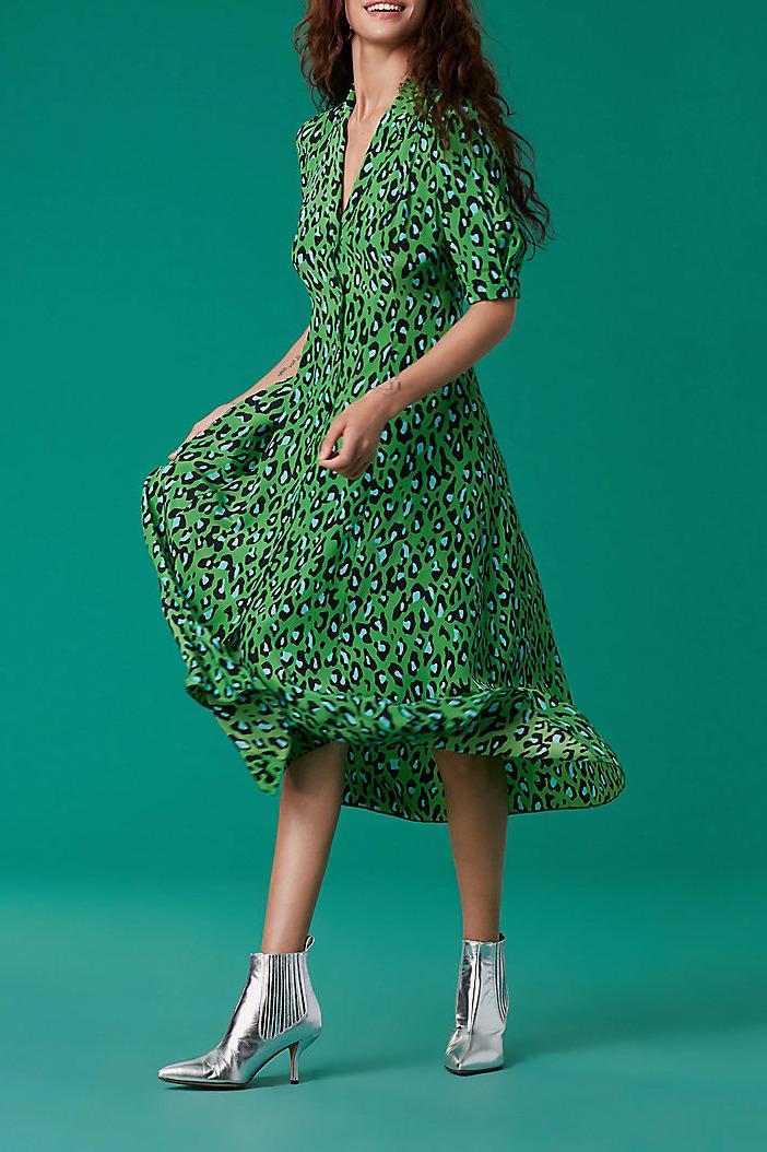 Diane von Furstenberg Cinch Sleeve Shirt Dress