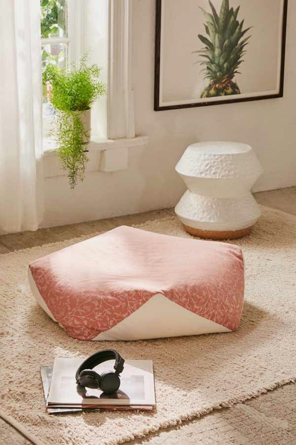 Geometric Floor Pouf