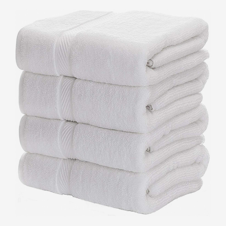 Luxury White Circlet Egyptian Cotton Hotel Spa Collection Bathroom Towel