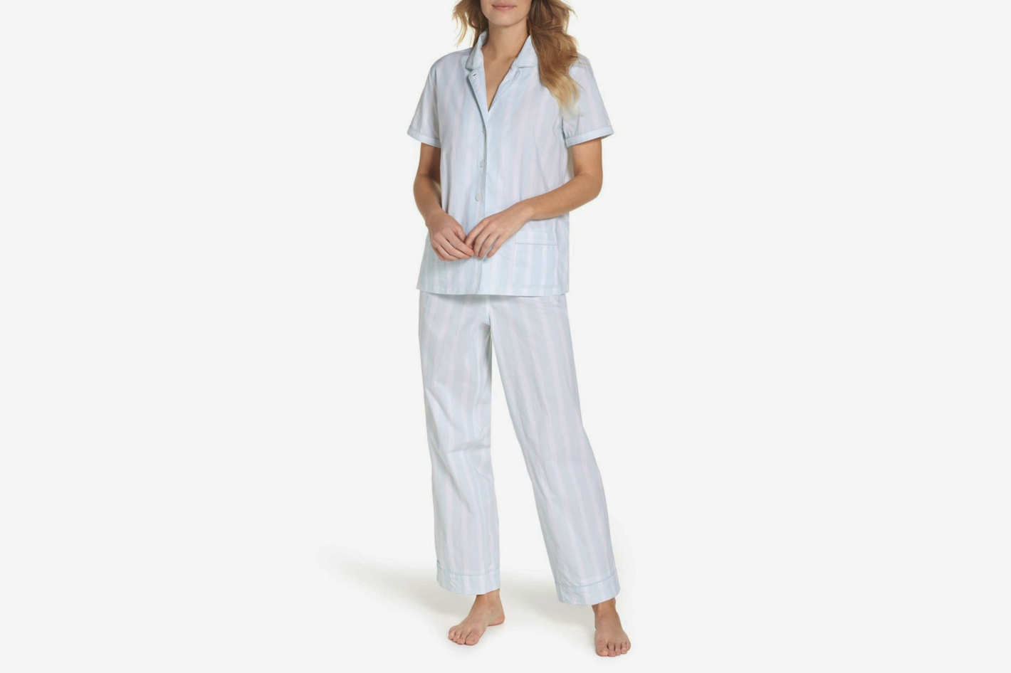 J.Crew Striped Sleep Short Sleeve Pajamas