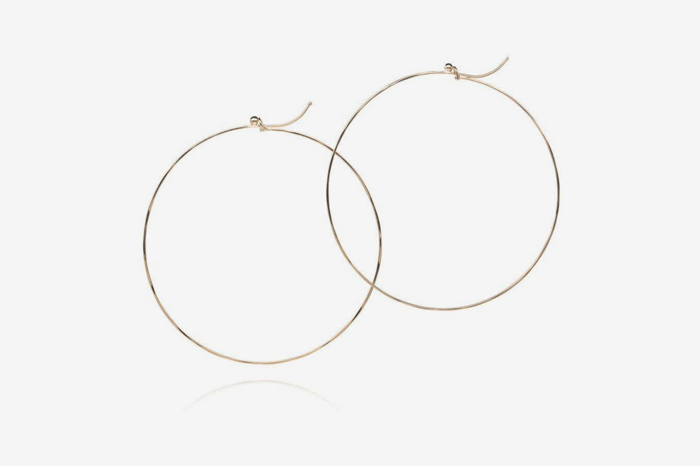 Dean Harris 18k Yellow Gold Flattened Hoop Earrings
