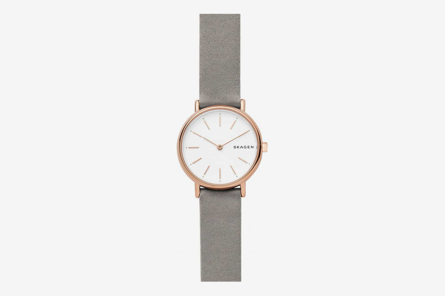 Skagen Signatur Slim Leather Strap Watch, 30mm