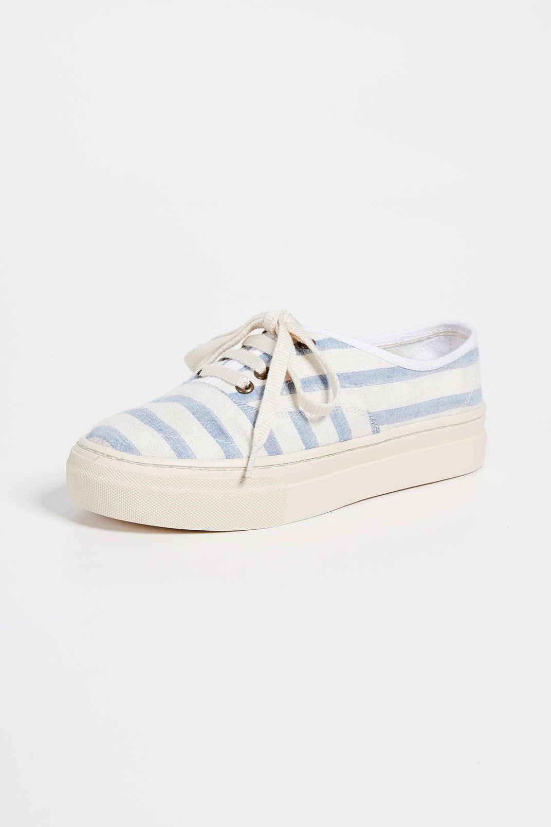 Soludos Platform Stripe Sneakers