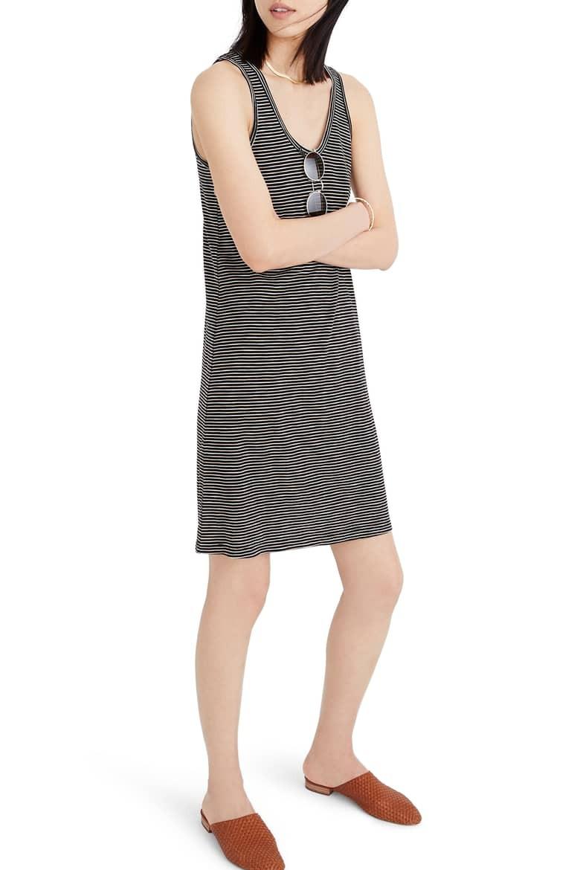 Madewell Stripe Scoop Neck Knit Dress