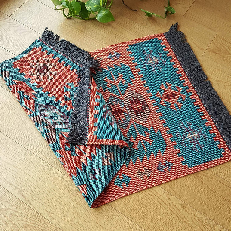 Secret Sea Collection Modern Bohemian Style Washable Area Rug