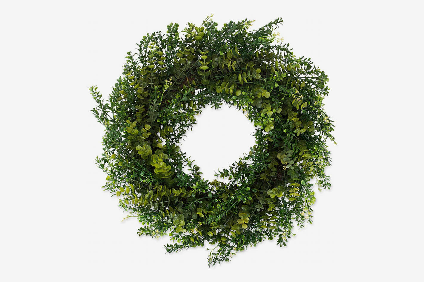 The Wreath Depot Arbor Artificial Boxwood 22-Inch Wreath