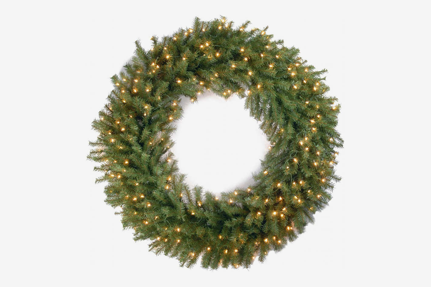 National Tree Company 48-Inch Norwood Fir Wreath With Clear Lights