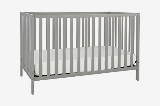 Union 3-in-1 Convertible Crib, Gray